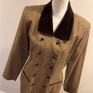 Vtg 80's Does 40's Houndstooth Jacket